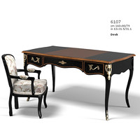 selva  1607 louis classic table work desk giorgio piotto  chair armchair