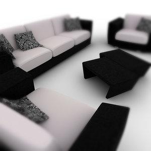 3ds max sofa settings -