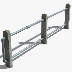 max concrete posts railings