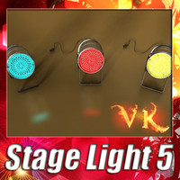 3d model stage light 05 -
