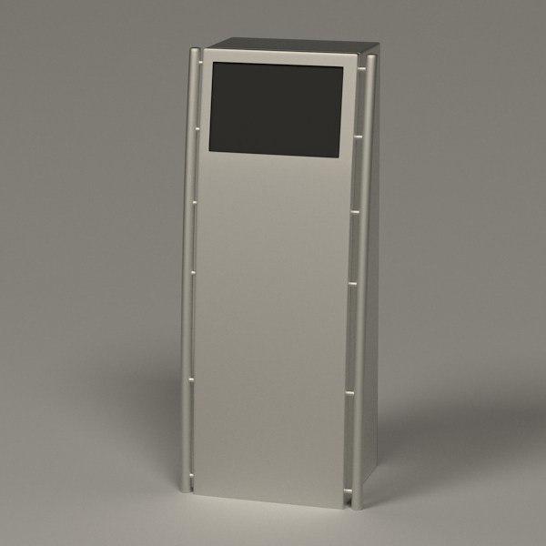 computer terminal 3d model