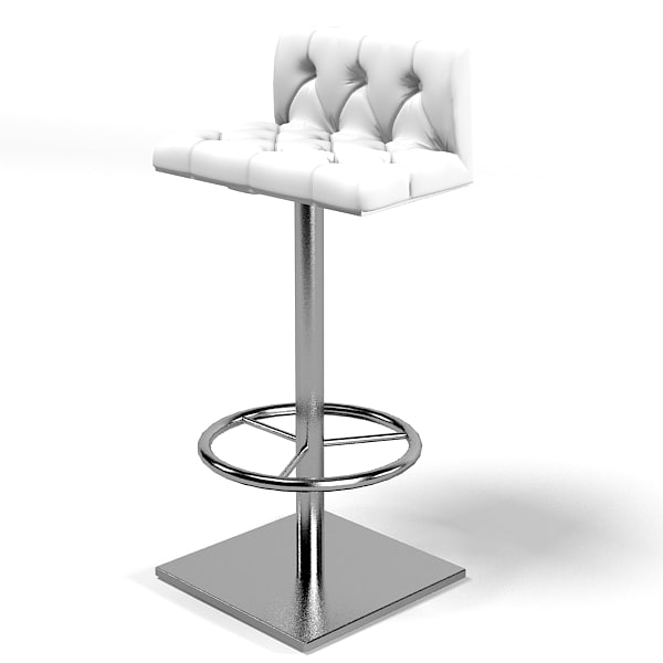 3d model tufted bar counter
