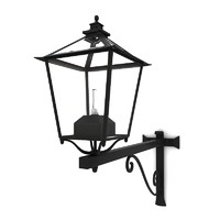 3d wall street lamp