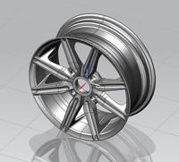 3d model wheel sport