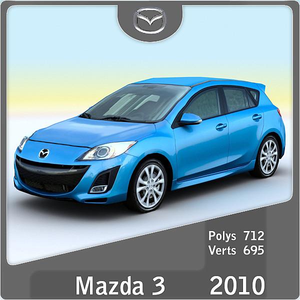 3ds max 2010 mazda 3