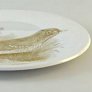 plate 3d model