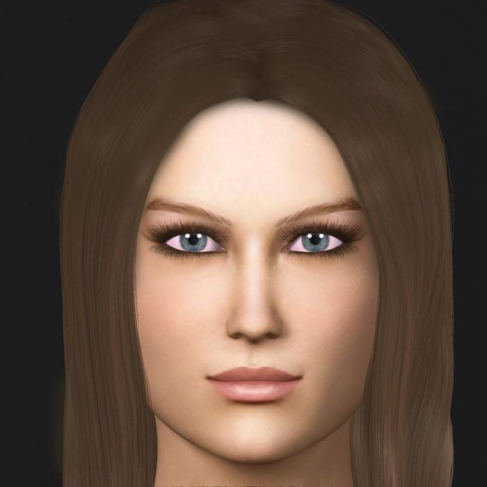 3d sandi realistic female