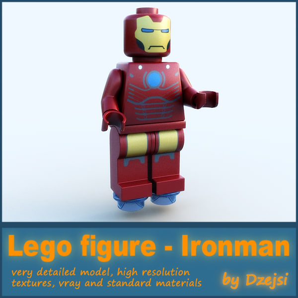 3d lego character - ironman model