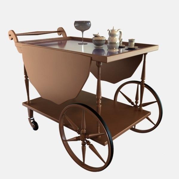 3d model table tea car
