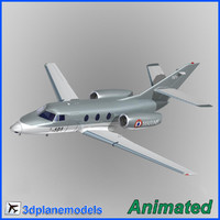 dassault falcon 10 french 3d 3ds