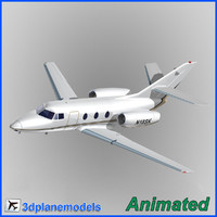 3d model dassault falcon 10 private