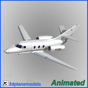 3d model dassault falcon 10 private