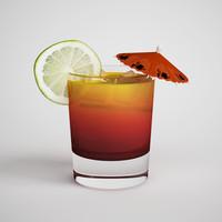 cocktail tai tropical 3d model
