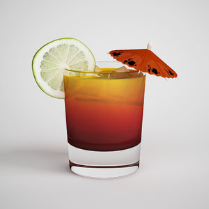 cocktail tai tropical 3d model