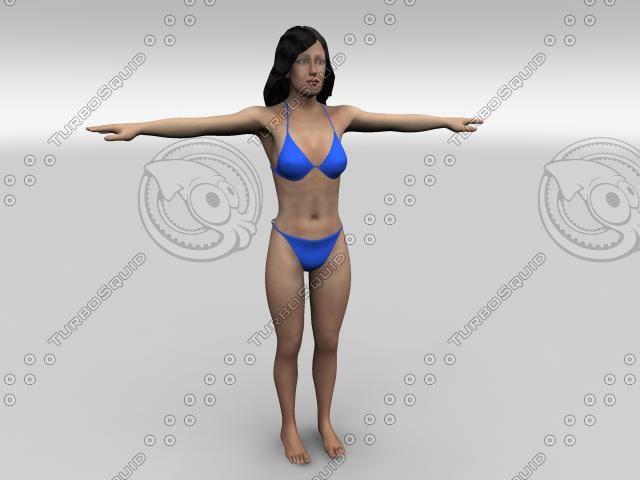 3d realistic woman rozi