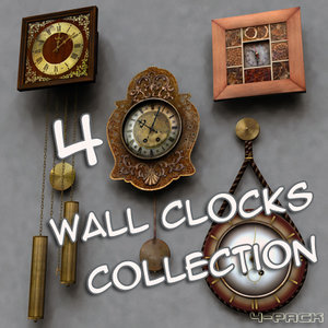 wall clocks 3ds