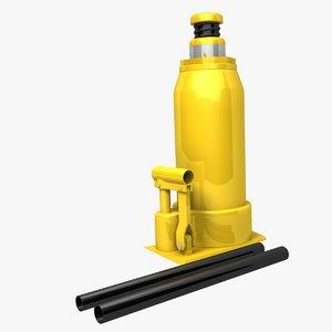 hydraulic bottle jack 3d obj