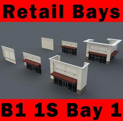 building b1 1s 1-story 3d 3ds