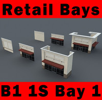 B1 1S Bay 1 - 1-Story Retail Bays  - 3ds max 2010 Mental Ray