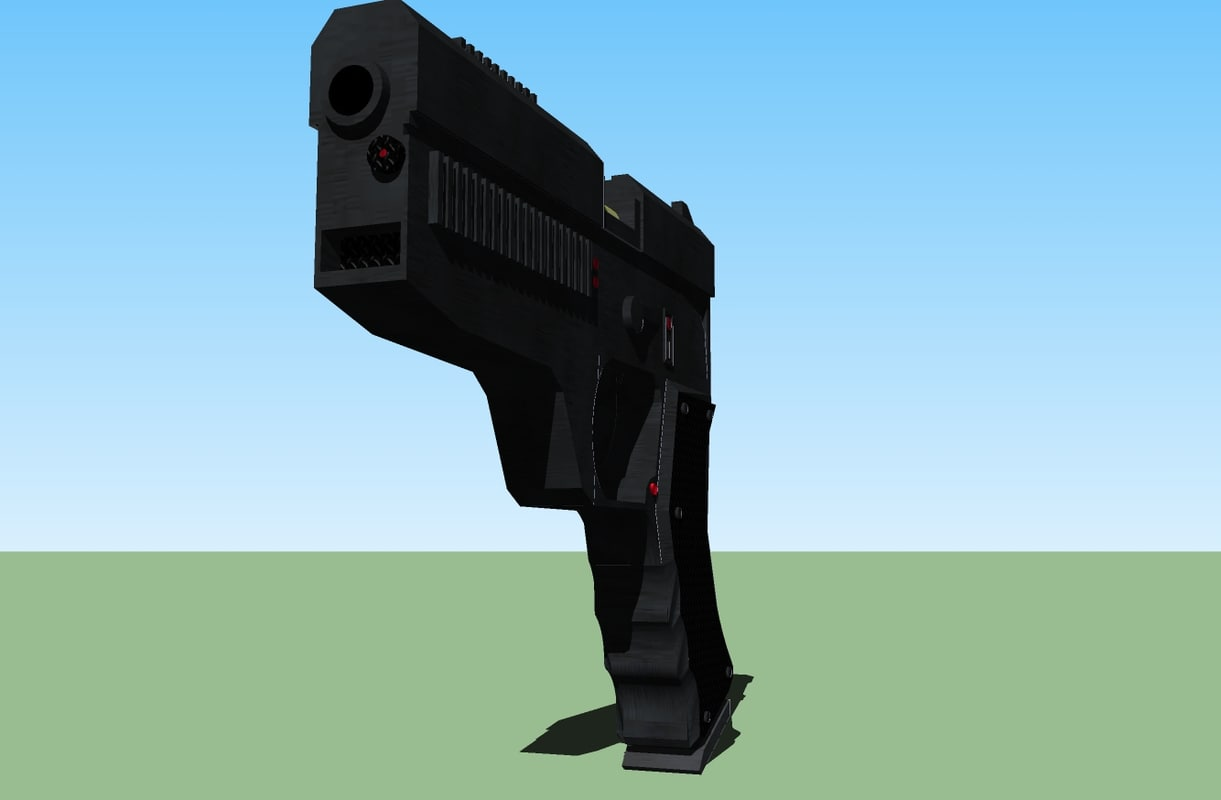 3d pistol handed weapon