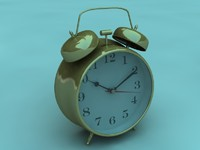 3d model classic alarm clock