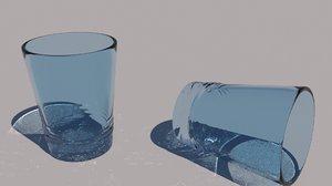3dsmax drinking glass