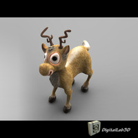 christmas deer 3d 3ds
