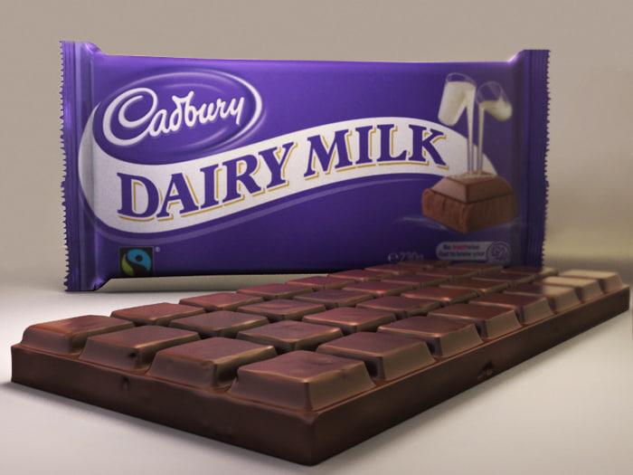 3dsmax chocolate dairy milk