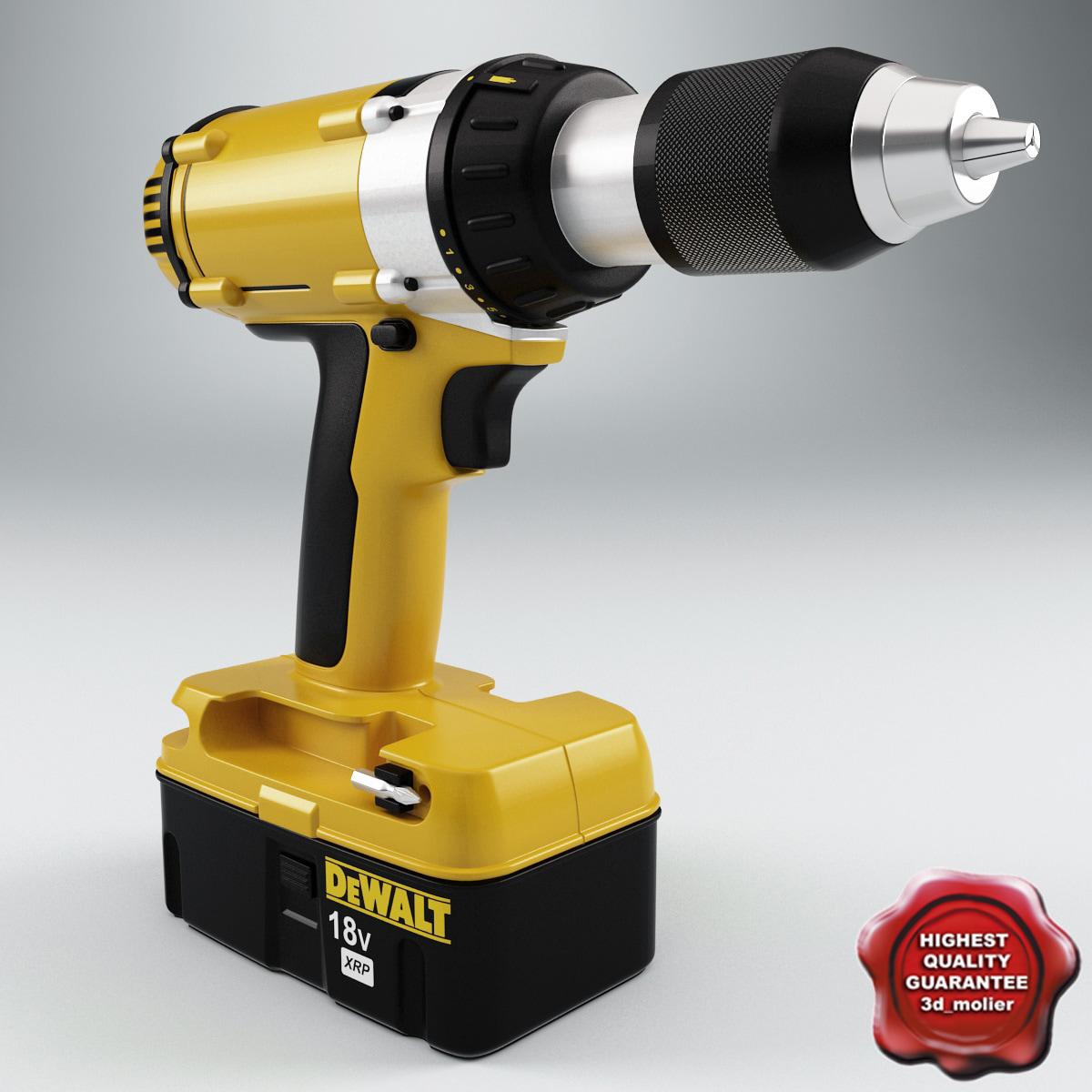 3ds max drill dewalt dc987 v2