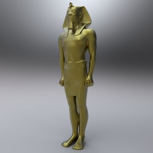 3d ancient egyptian egypt statues model