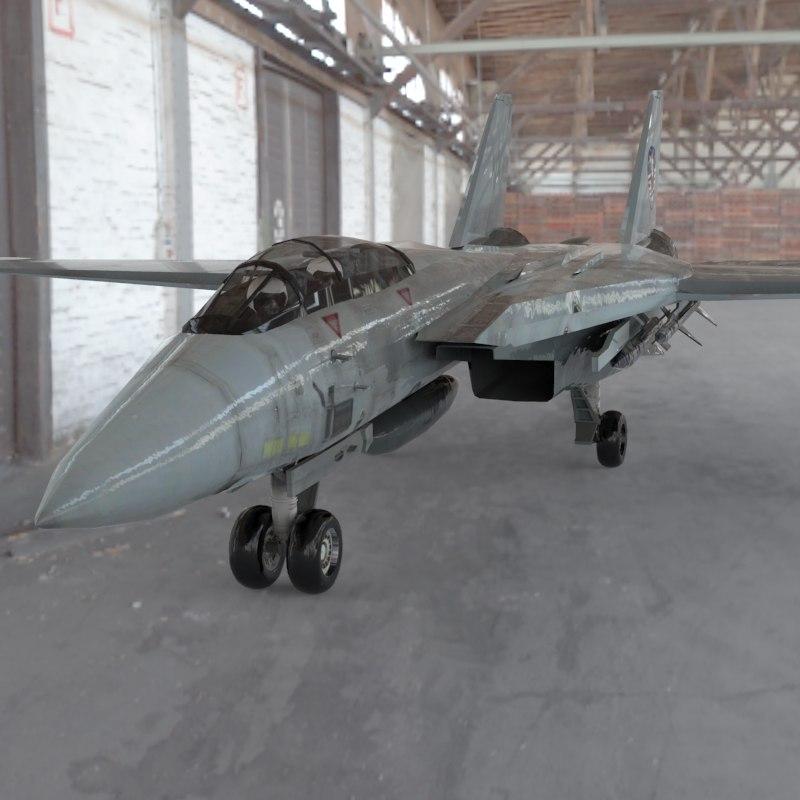 f-14 tomcat aircraft fighter 3d 3ds