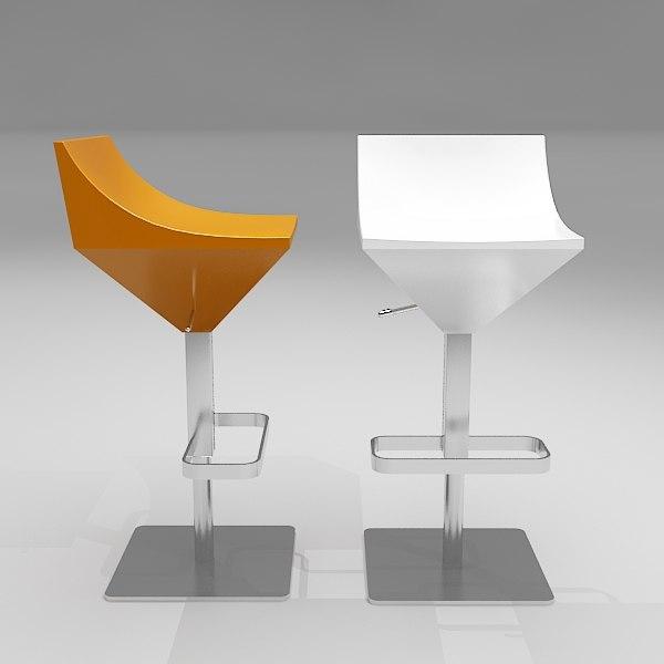 3d fly bar stool model