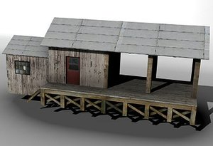 railway freight station 3d 3ds