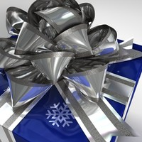 Gift Box Blue and Silver