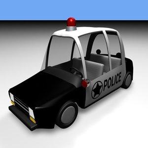 3d toon cop car model