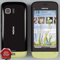 Nokia C5-03 black-green
