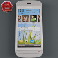 3d model nokia c5-03 white-grey