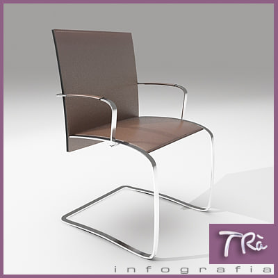 3d office chair zen model
