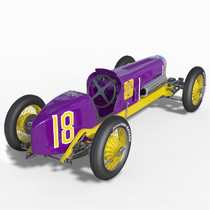 miller racing car 91 3d obj