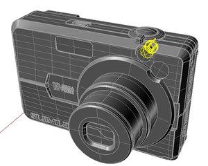 3d 3dm slimline 10 mega-pixels digital camera