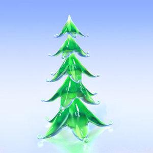 glass stylized christmas tree 3d obj