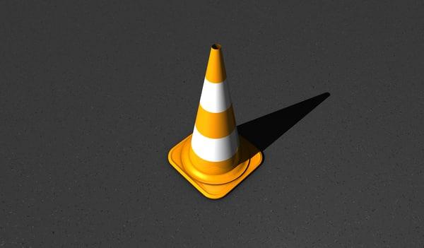 orange pylon 3d model