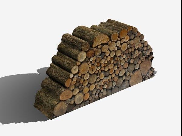 3d log pile model