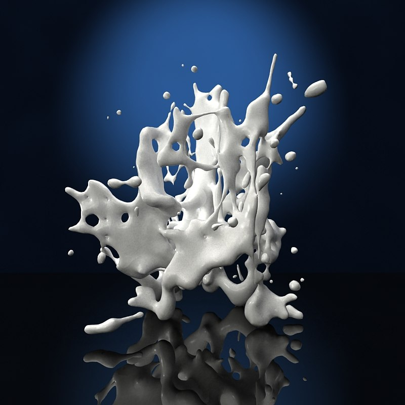 splash liquid paint 3d model