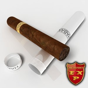 3d model cigars havana materials