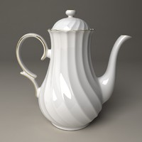 teapot porcelain pot 3d max