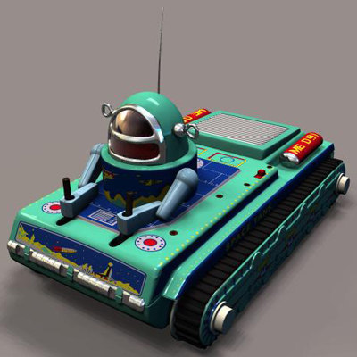3d reproduction toy space tank robot model