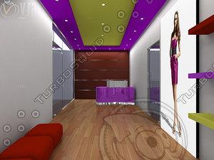 3d model reception area