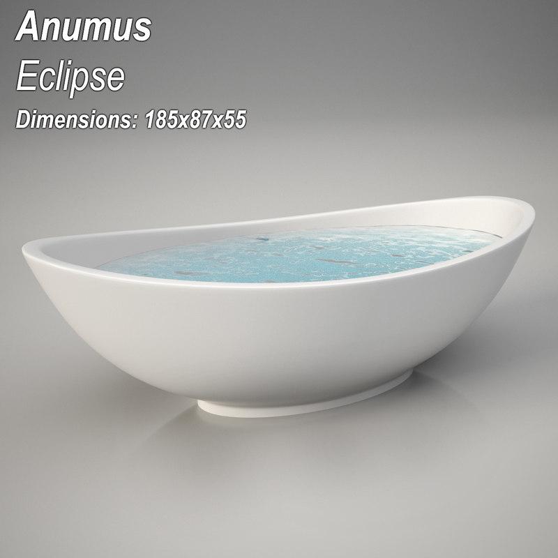 3d model animus elipse bathtub