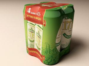3d model multipack beer